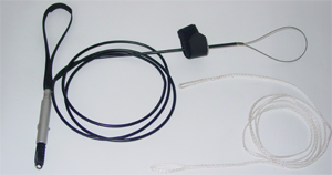 Комплект из замка отцепа, кабеля и стропы